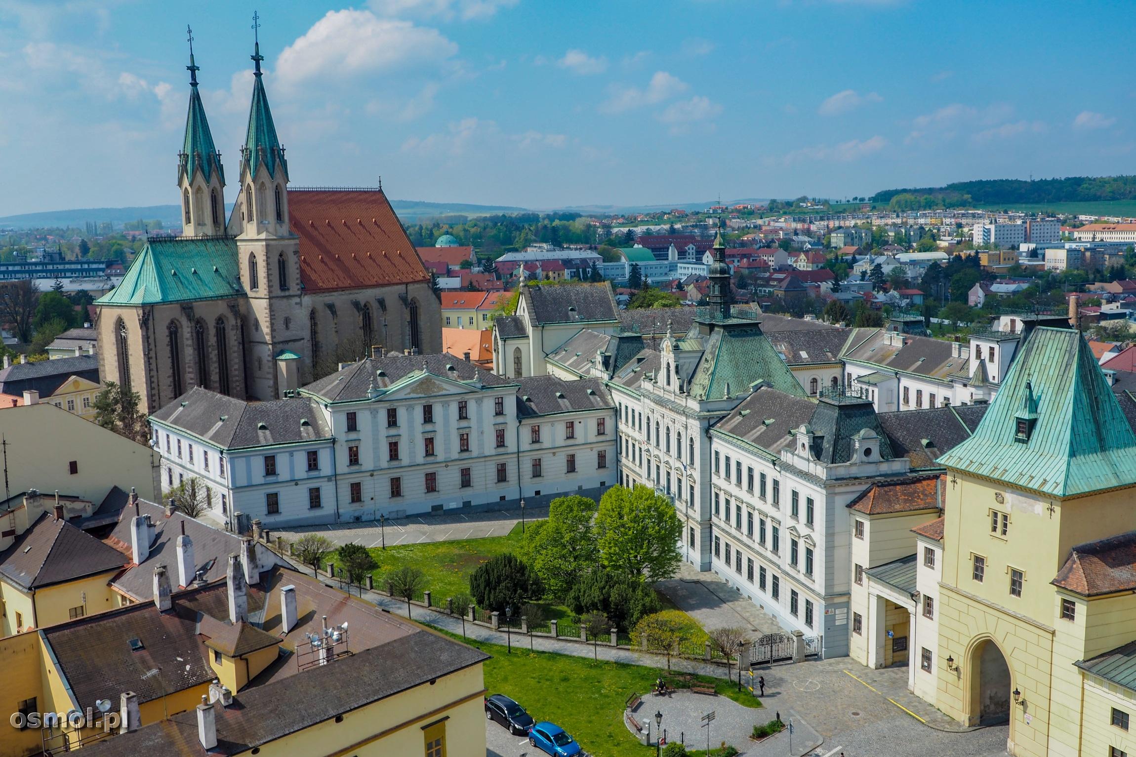 Widok na Kromieryż z wieży pałacowej