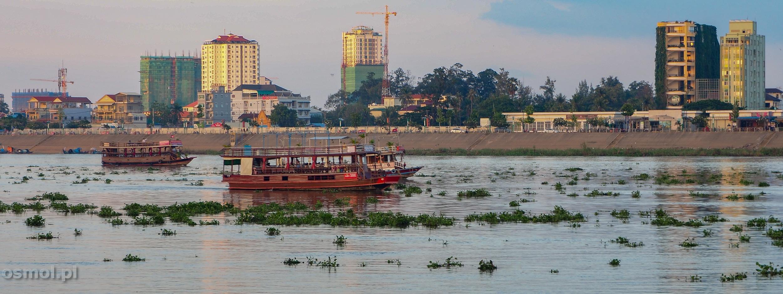 Mekong w Phnom Penh