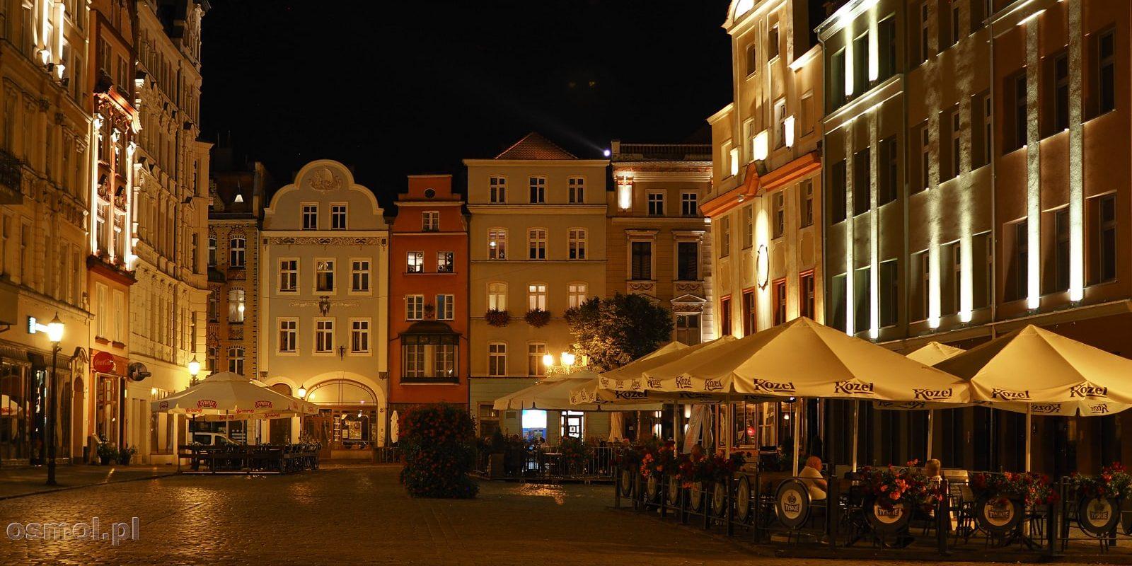 Rynek w Świdnicy nocą