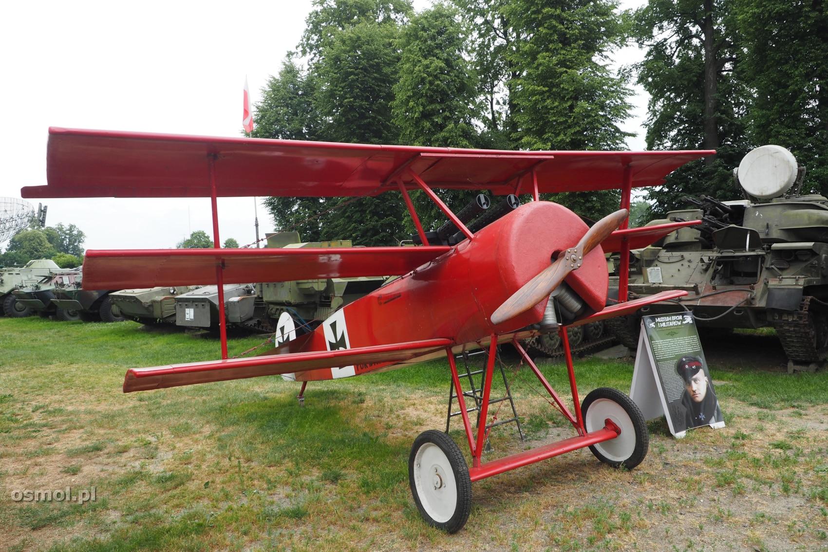 Model fokkera - samolotu z którym najczęściej jest kojarzony Czerwony Baron