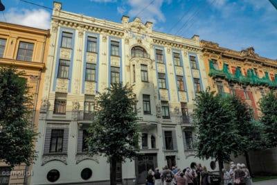 Ulica z secesją w Rydze alberta iela