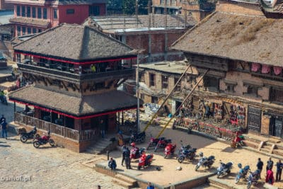 Widok z restauracji na Taumadhi square