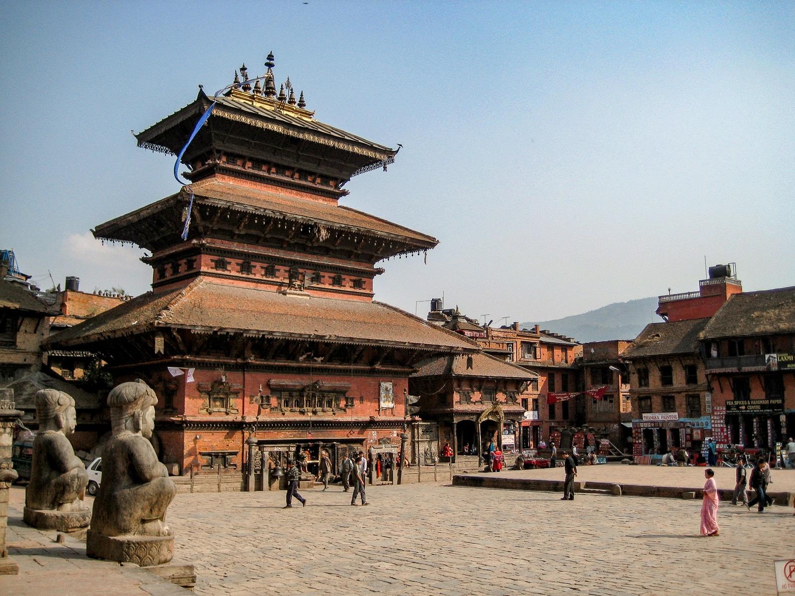 Bhaktapur - stare zdjęcie sprzed trzęsienia ziemi