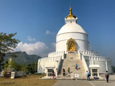 World Peace Pagoda w Pokharze