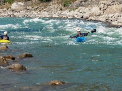 Kajakarze na Marshyangdi river