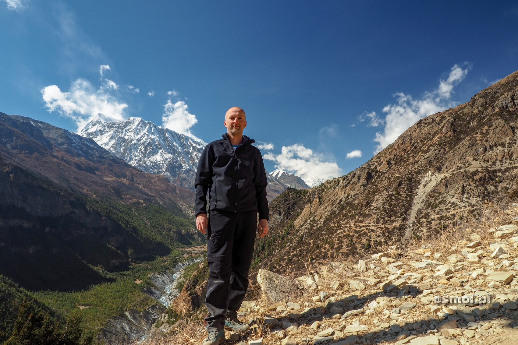 Na trekkingu w Himalajach