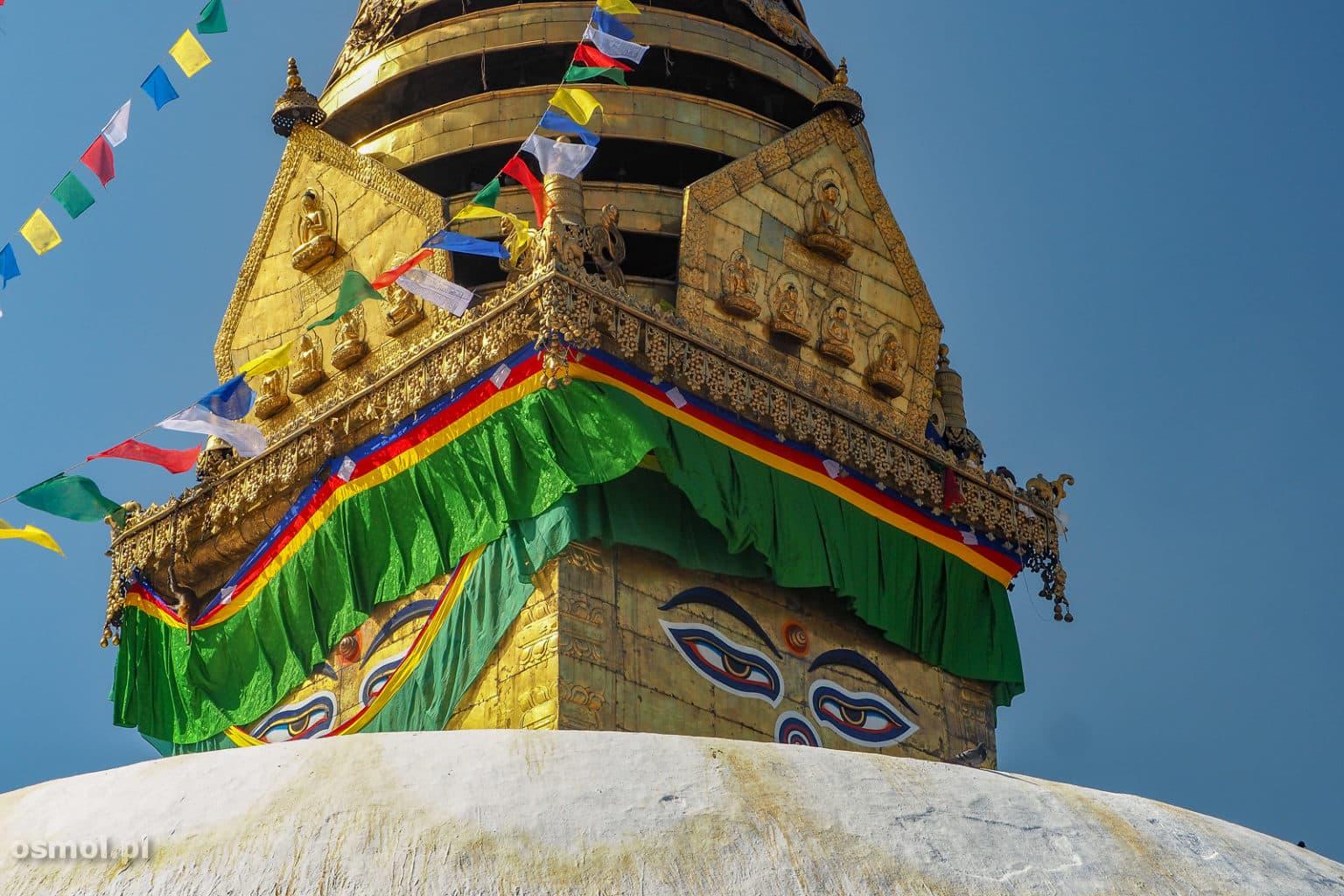 Oczy Buddy w świątyni Swayambhunath