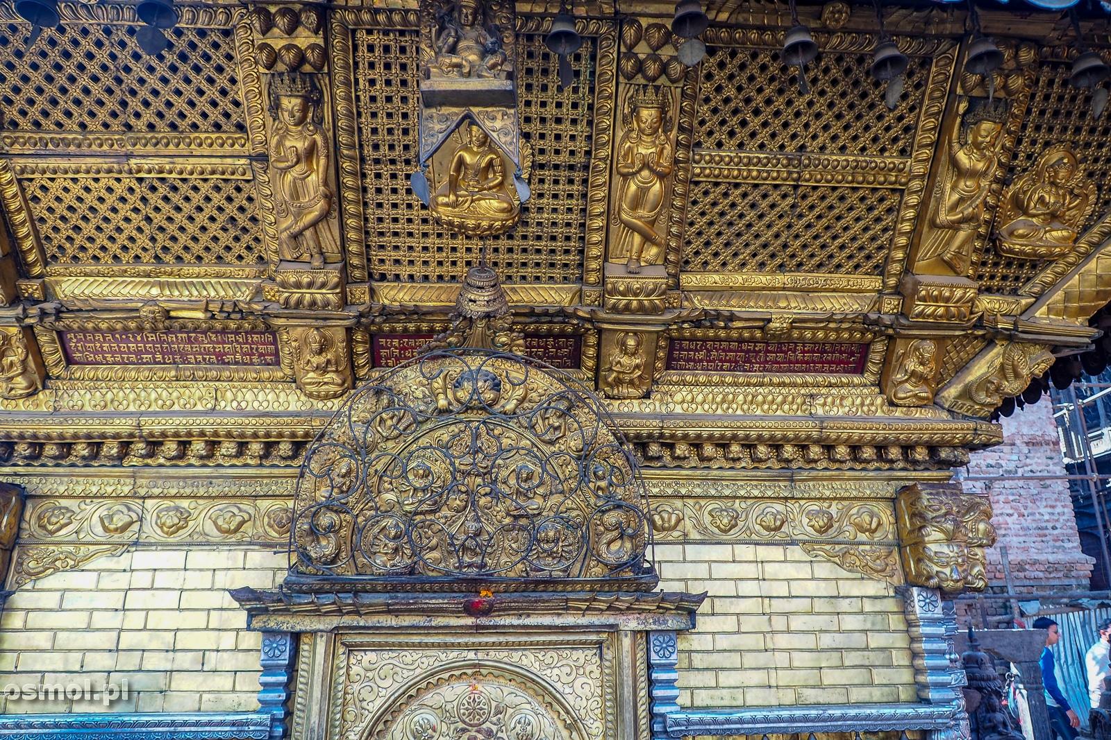 Jedna ze świątyń w kompleksie Swayambhunath