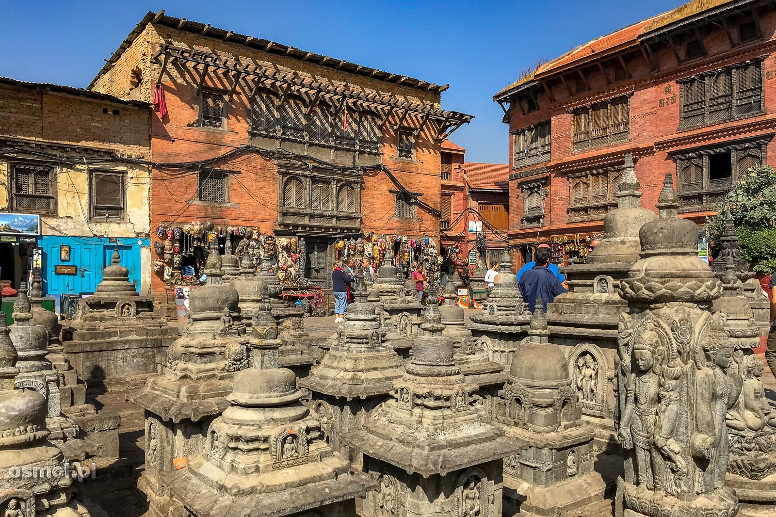 W świątyni Swayambhunath w Kathmandu