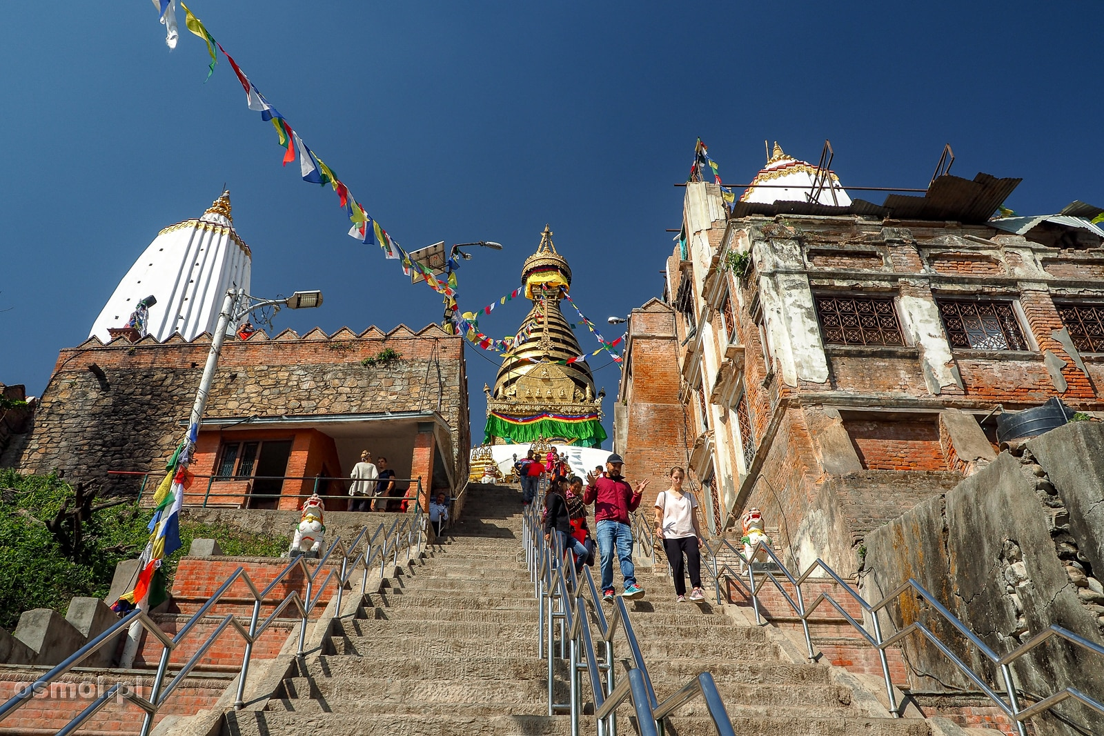 Schody do świątyni Swayambhunath