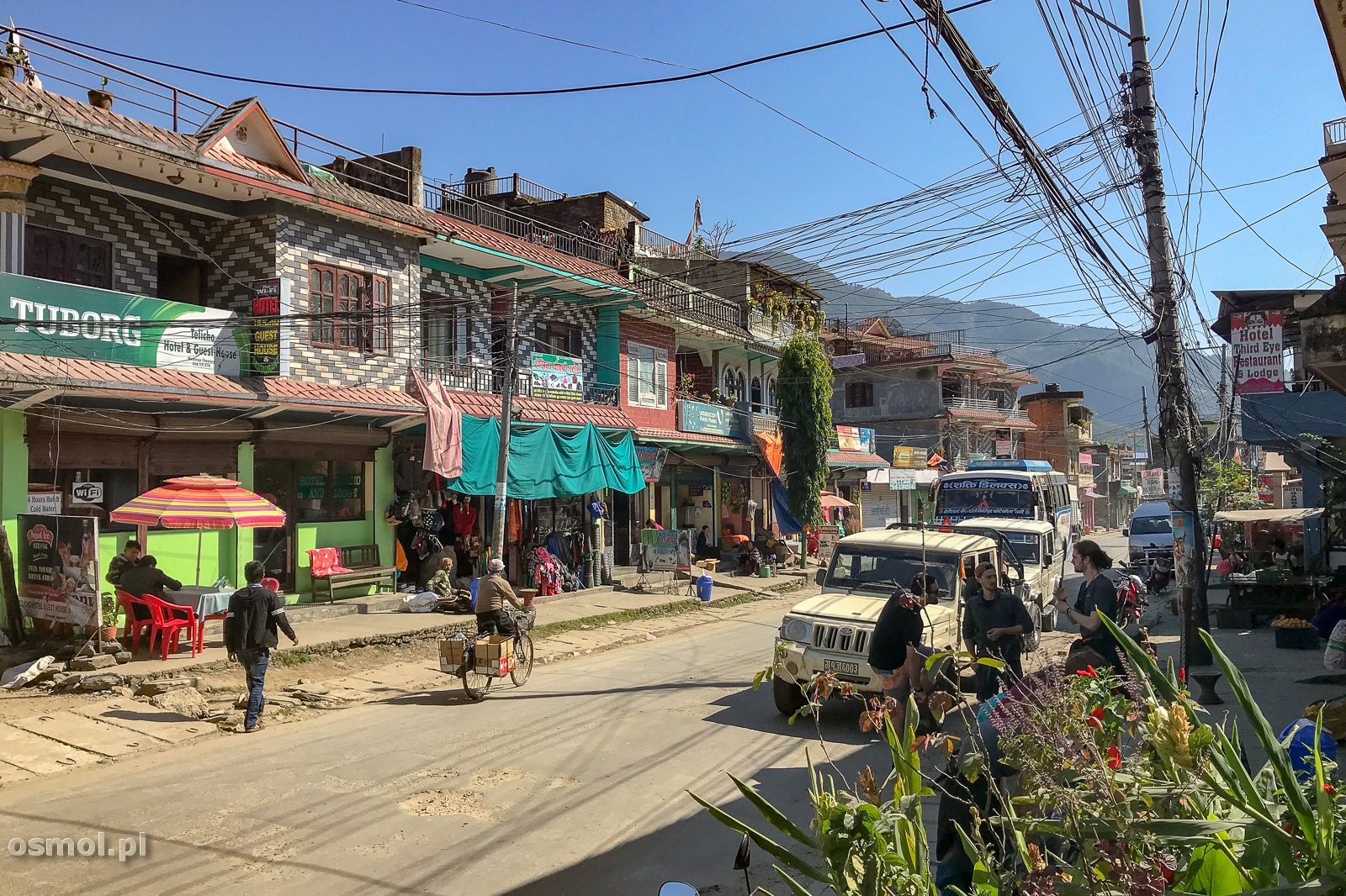 Besishahar. Dla wielu początek szlaku dookoła Annapurny.