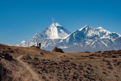 Ten moment kiedy zza wzgórza wyłania się Dhaulagiri