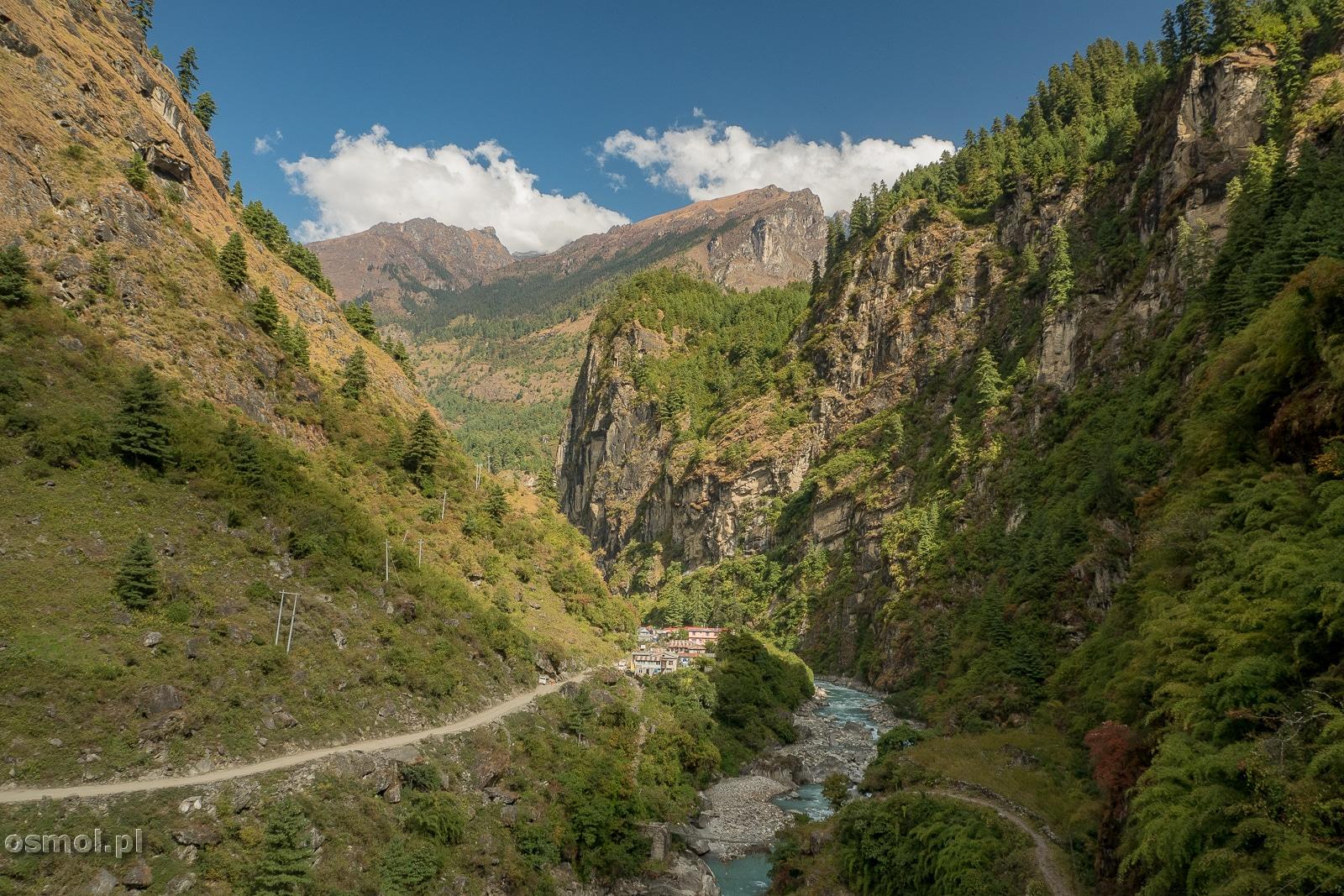 Dolne partie szlaku dokoła Annapurny
