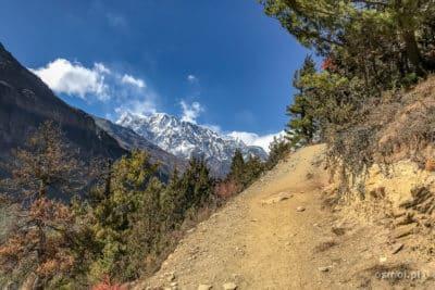 Szlak na trekkingu dookoła Annapurny.