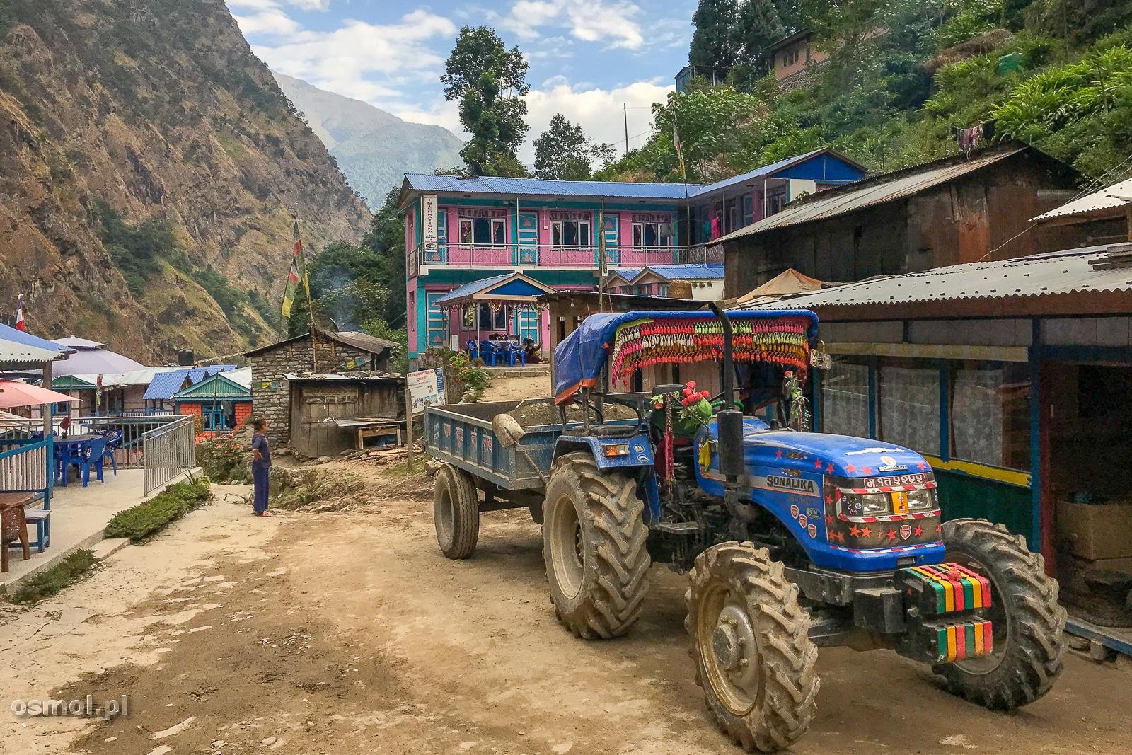 W wiosce Chamje w Himalajach.