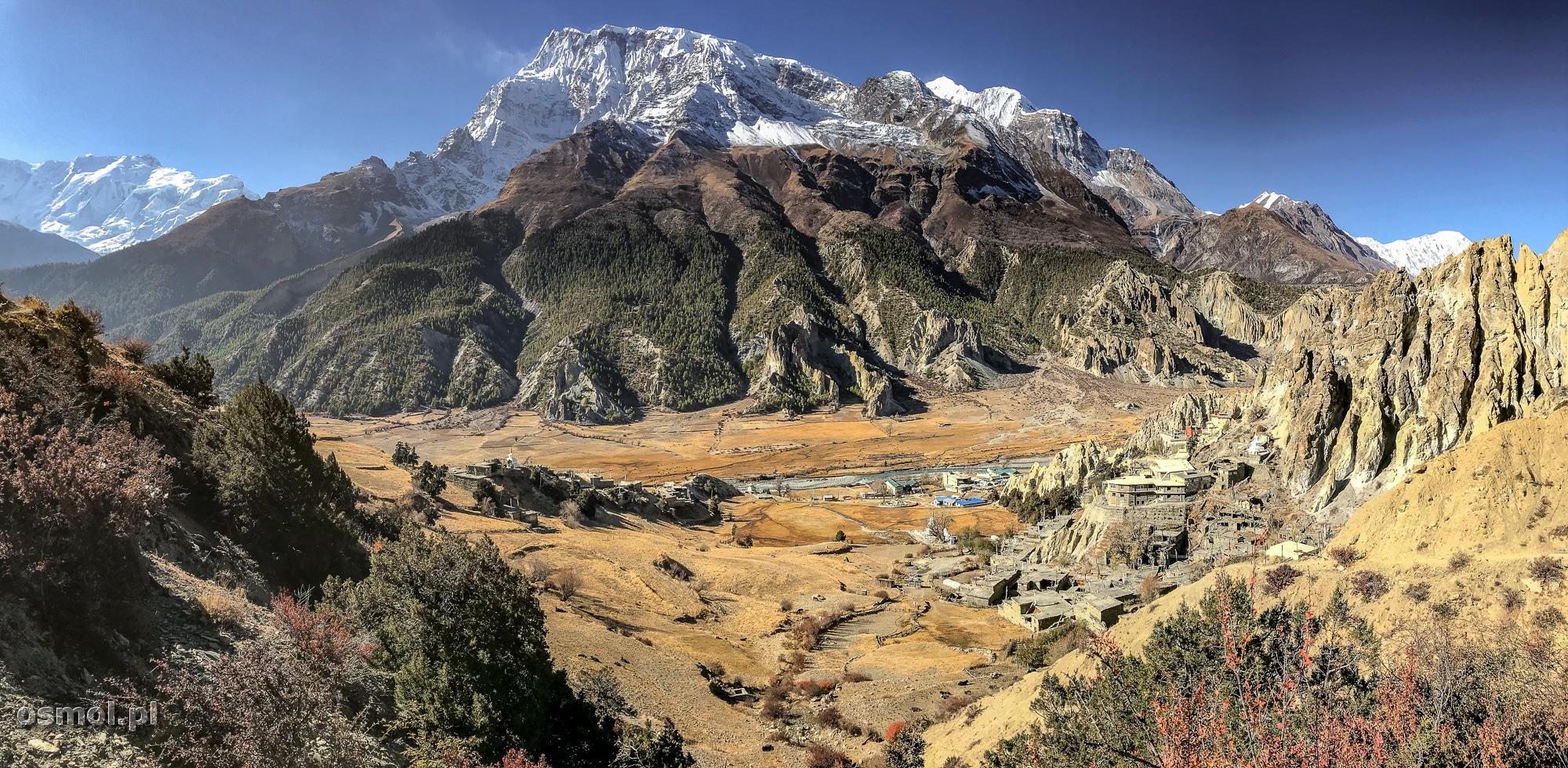 Himalaje widziane podczas tekkingu do Ice Lake