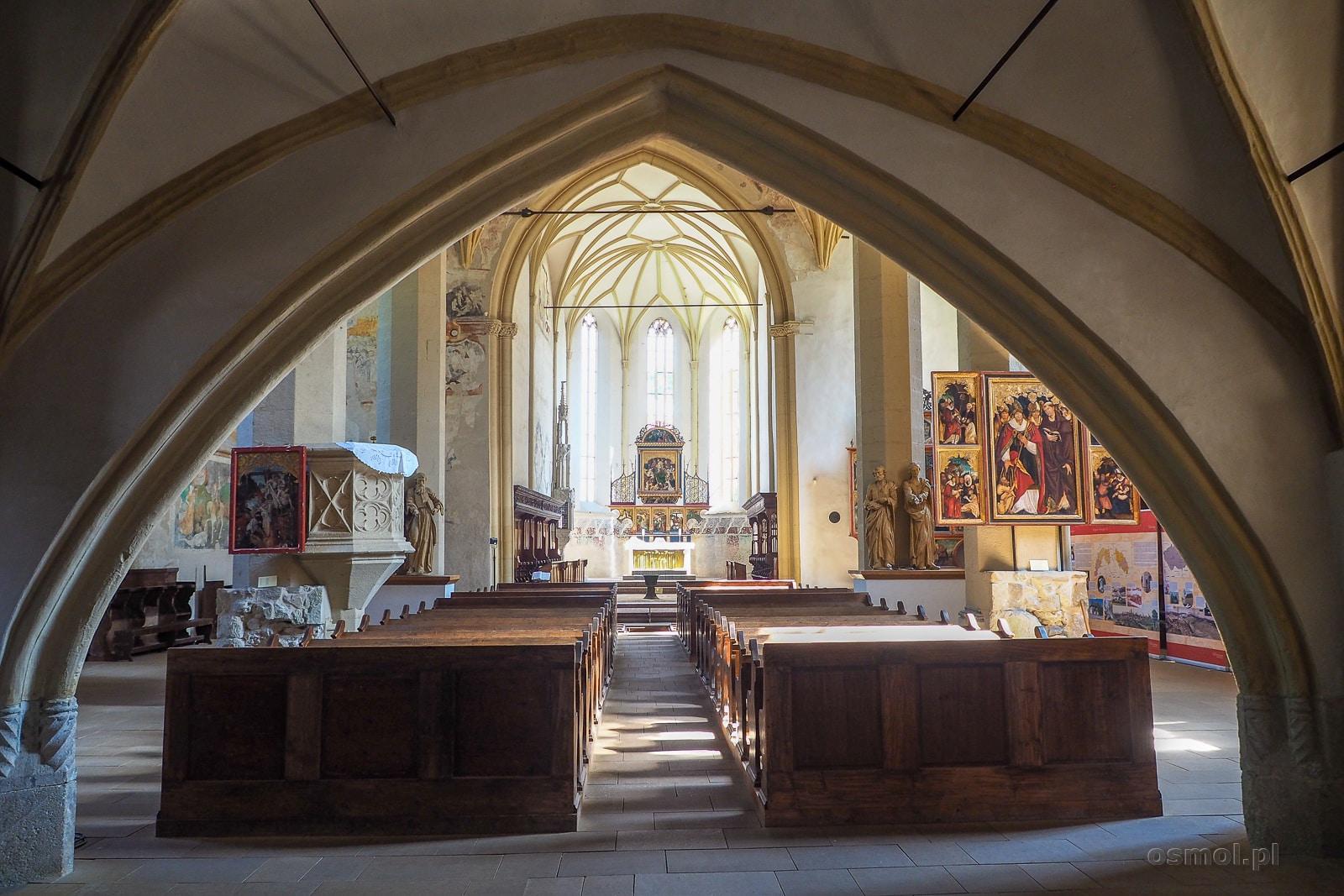 Wnętrze Kościoła na Wzgórzu w Sighișoarze