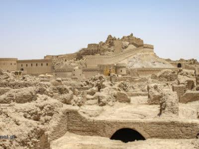 Ruiny twierdzy w Bam - Iran