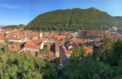 Panorama Braszowa widziana z Białej wieży