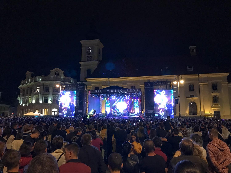 Koncert na Dużym Rynku w Sybinie