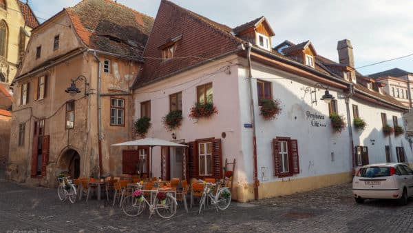 Stary dom w Dolnym Mieście w Sybinie - Rumunia