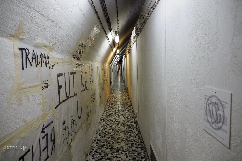 Korytarz w bunkrze Tito pod Konjic