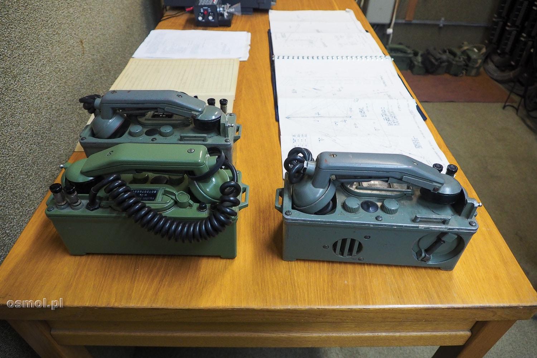 Telefony przenośne na korbkę w bunkrze