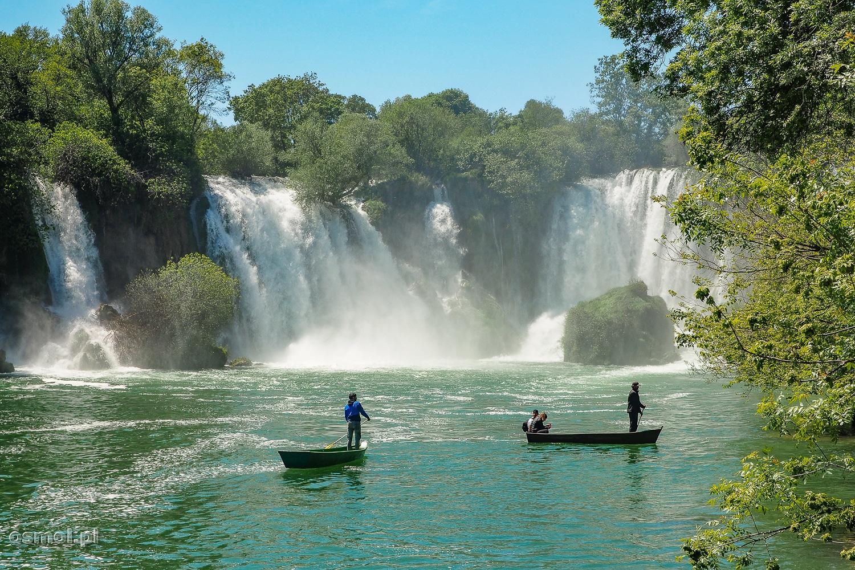 Rejs łódką przy Wodospadach Kravica