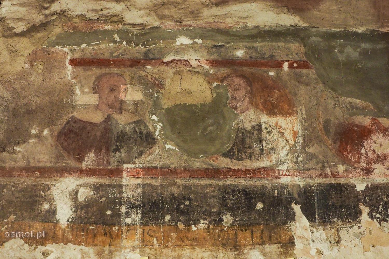 Pozostałości fresków na zamku w Hunedoarze