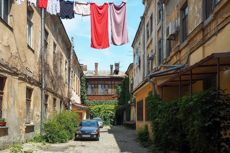 Jedno z podwórek gdzieś w uliczkach Odessy
