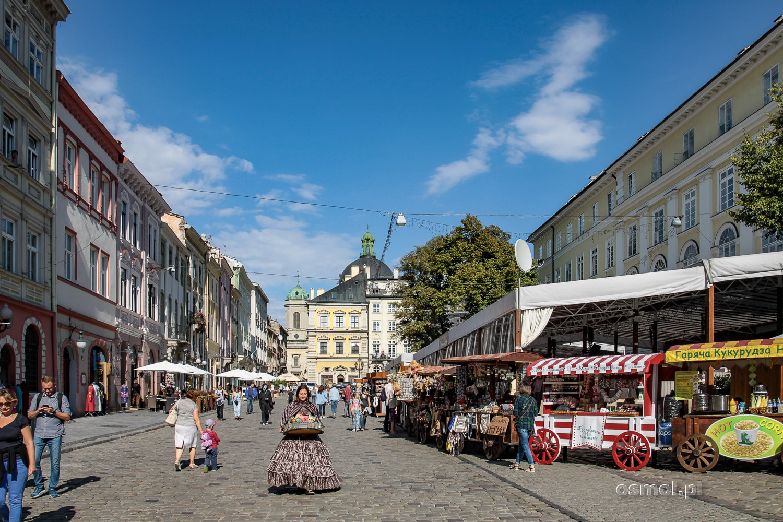 Stragany na Rynku we Lwowie
