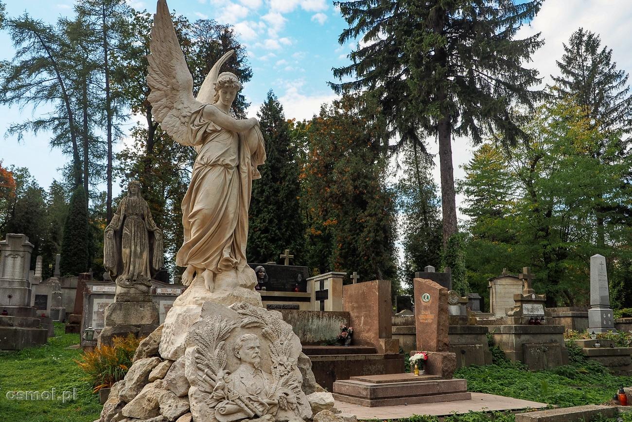 Pomnik na grobowcu na Cmentarzu Łyczakowskim we Lwowie