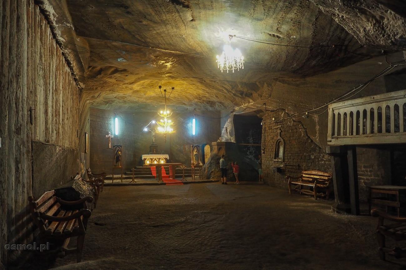Kaplica św. Barbary w kopalni soli Kaczyka w Rumunii