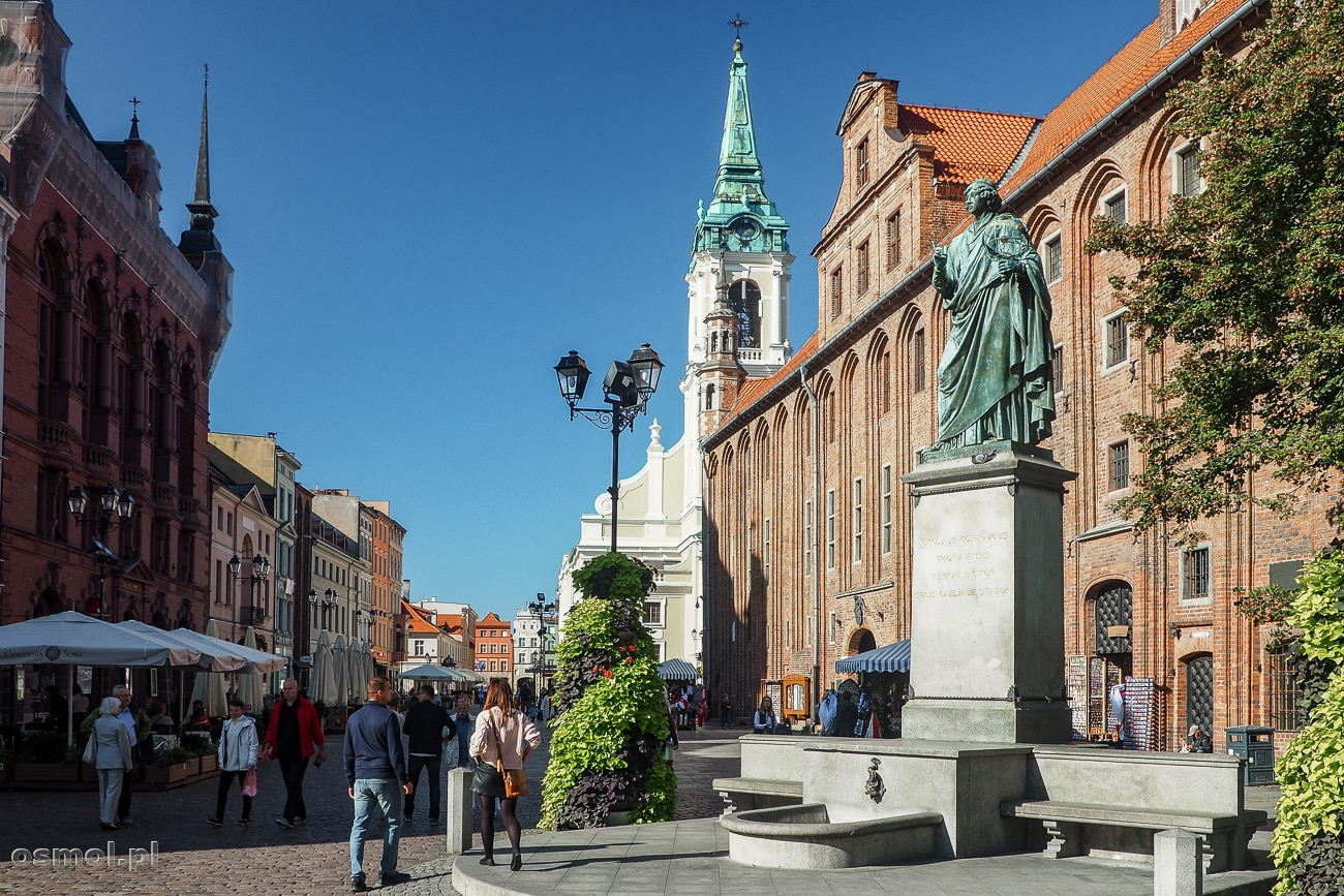 Pomnik Mikołaja Kopernika obok Ratusza w Torun