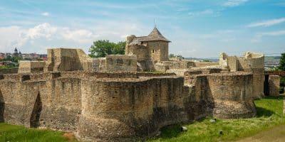 Ruiny zamku w Suczawie. Rumunia