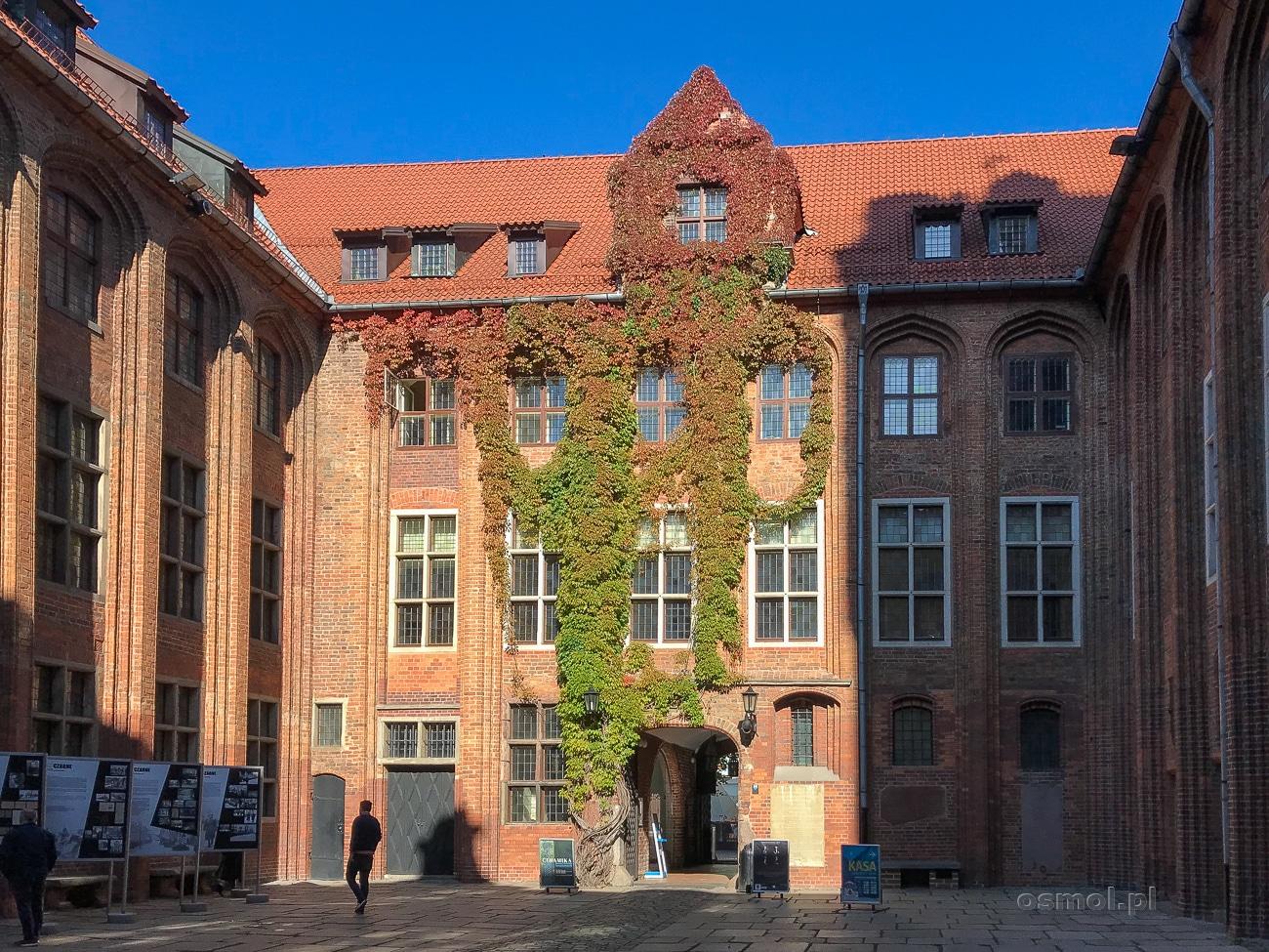Dziedziniec Muzeum Okręgowego w Toruniu. Muzeum mieści się w dawnym Ratuszu