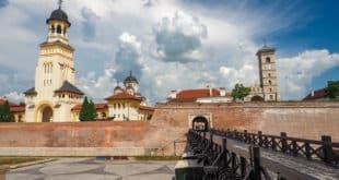 Widok na cytadelę Alba Iulia