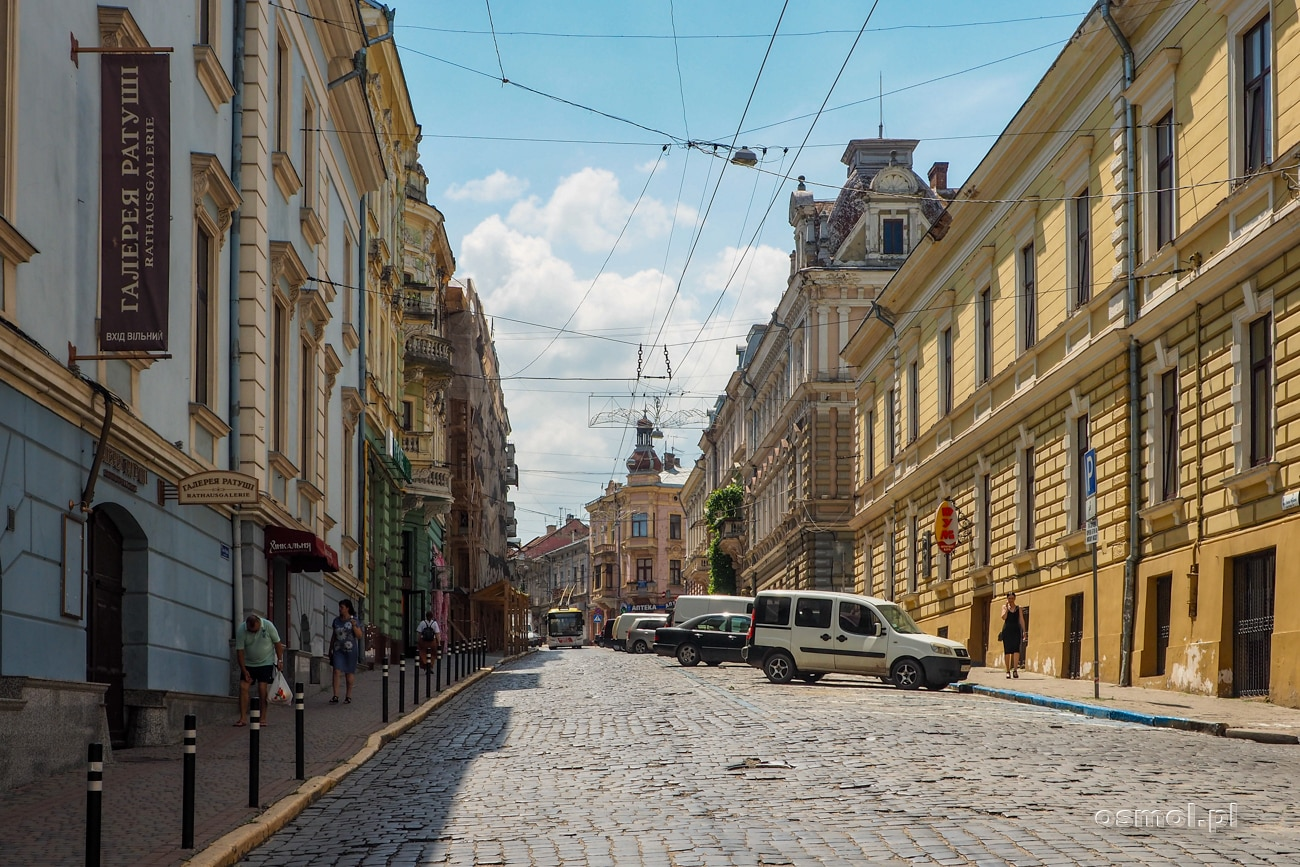 Ulica Główna - jedna z głównych ulic Czerniowców