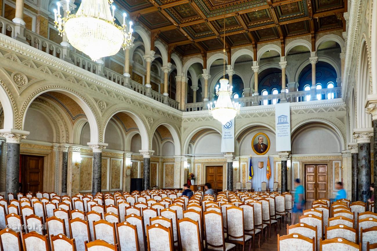 Sala Marmurowa, dawniej Synodalna na Uniwersytecie w Czerniowcach