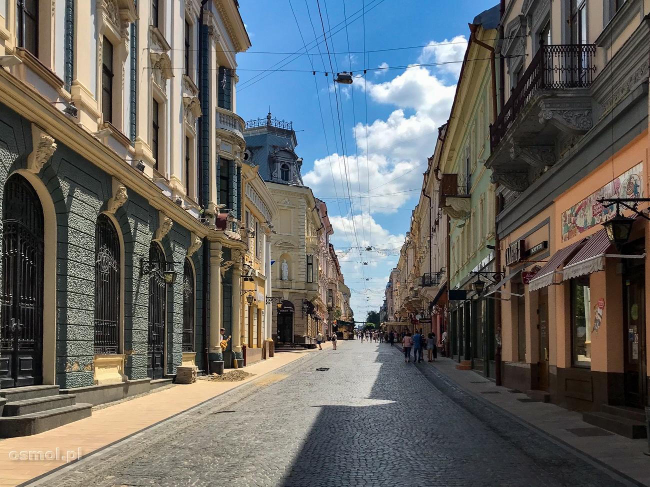 Deptak w Czerniowcach - tu bije serce miasta