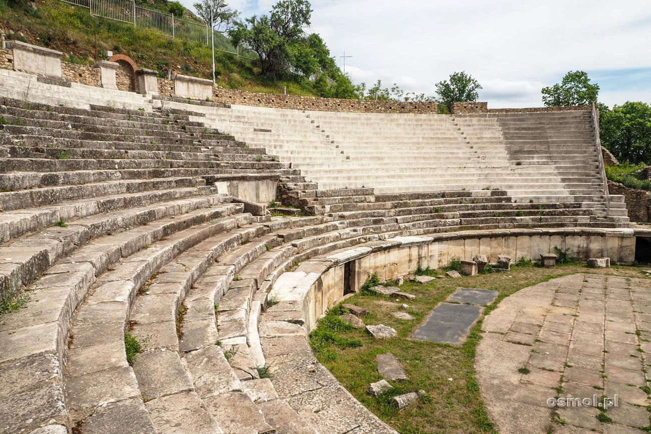 Amfiteatr w Heraklei - antycznym mieście w ramach Bitoli