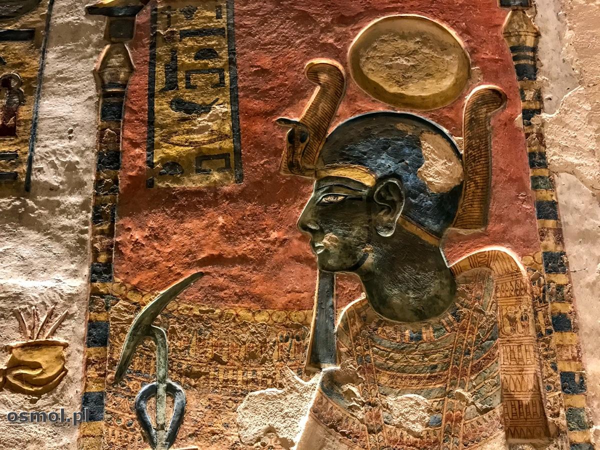 Zdobienia grobowca w Dolinie Królów w Egipcie