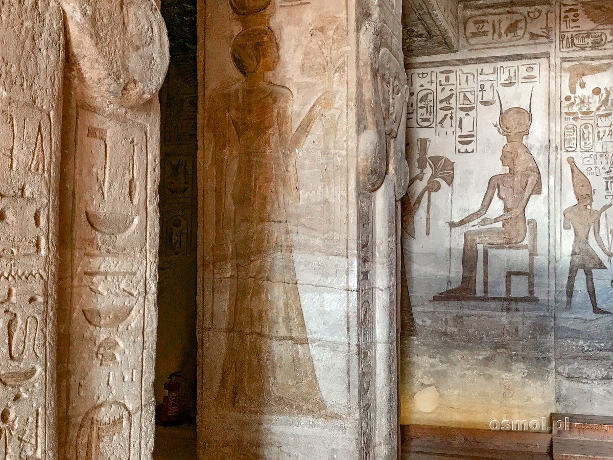 Płaskorzeźby w Małej Świątyni w Abu Simbel