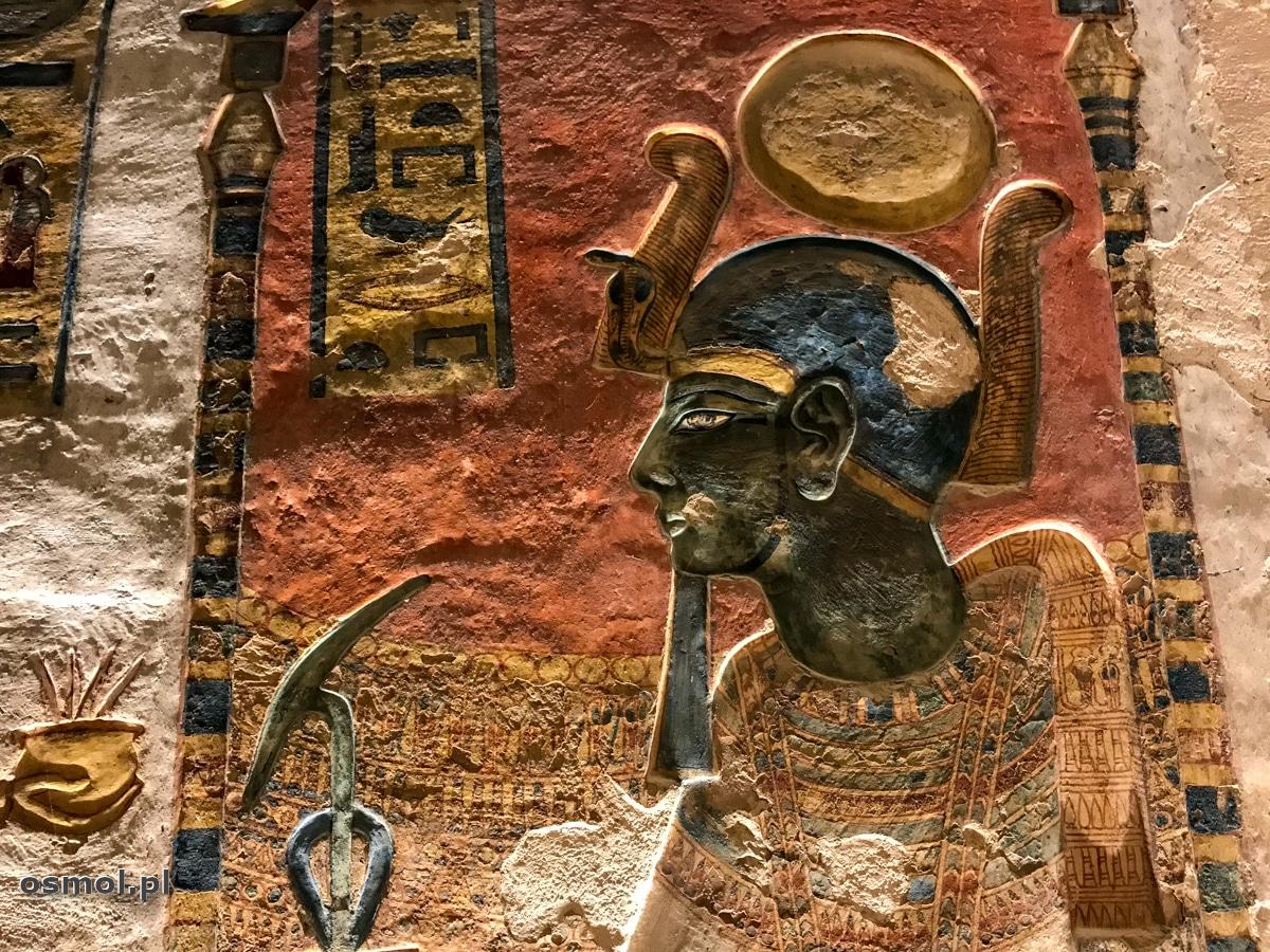 Zdobienia grobowca Ramzesa III w Dolinie Królów w Egipcie