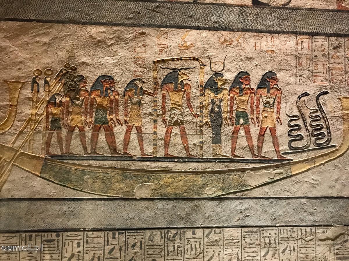 Zdobienia w grobowcu faraona Merenptaha w Dolinie Królów