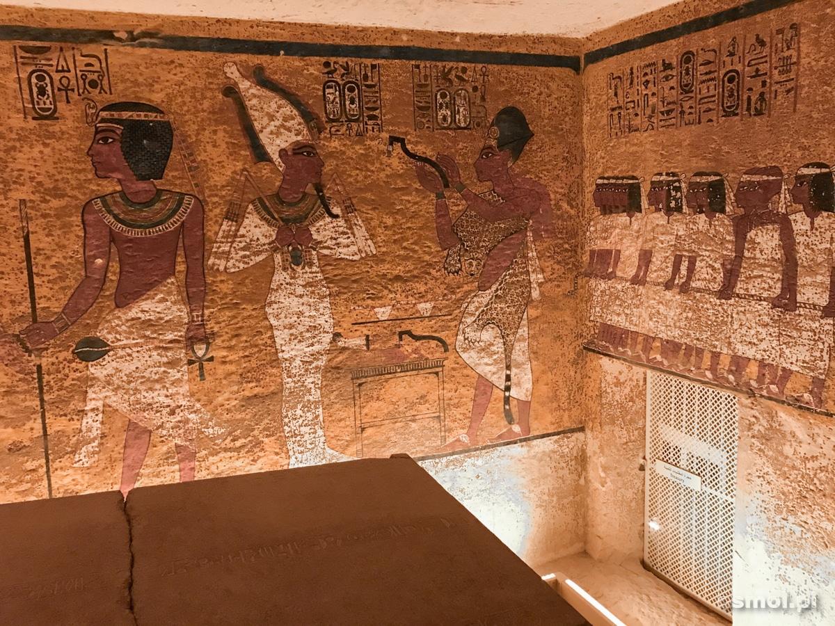 Wnętrze grobowca Tutenchamona