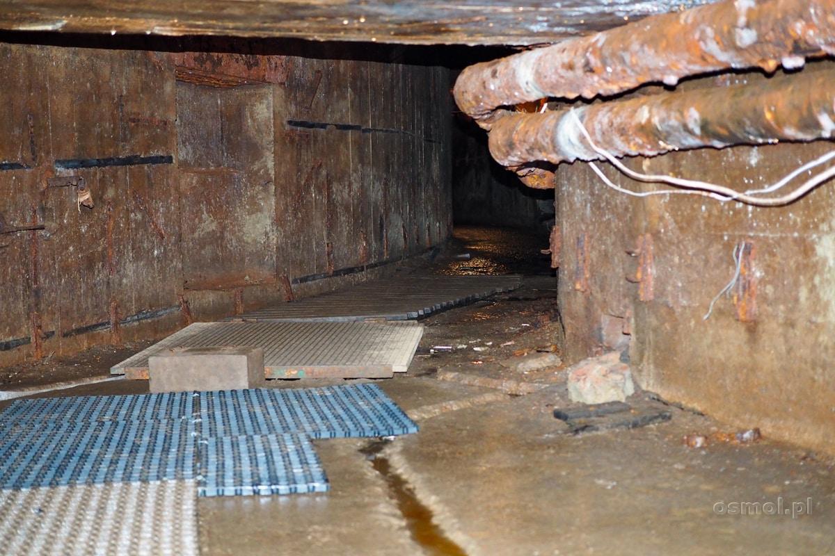Kanał techniczny łączący bunkier w Konewce z pomieszczeniami bunkra technicznego