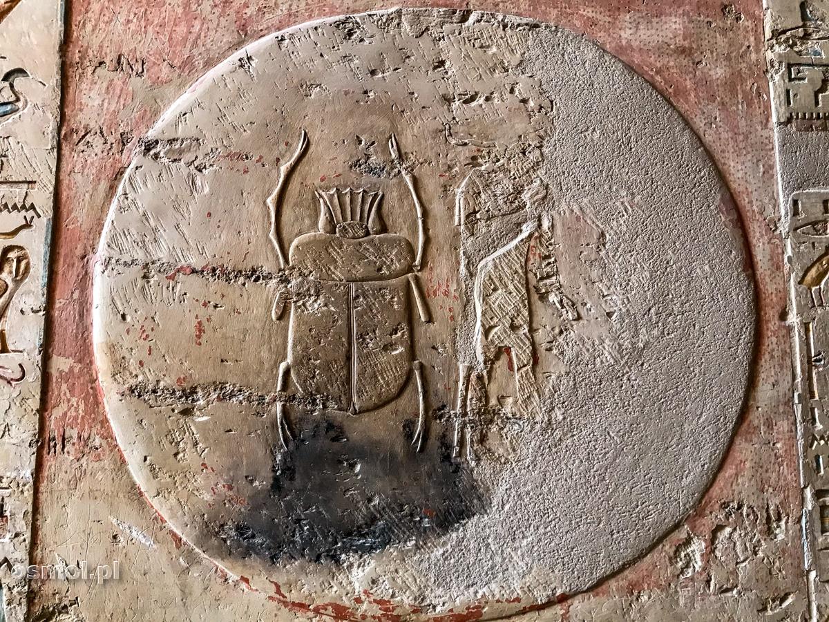 Skarabeusz przy wejściu do grobowca Merenptaha