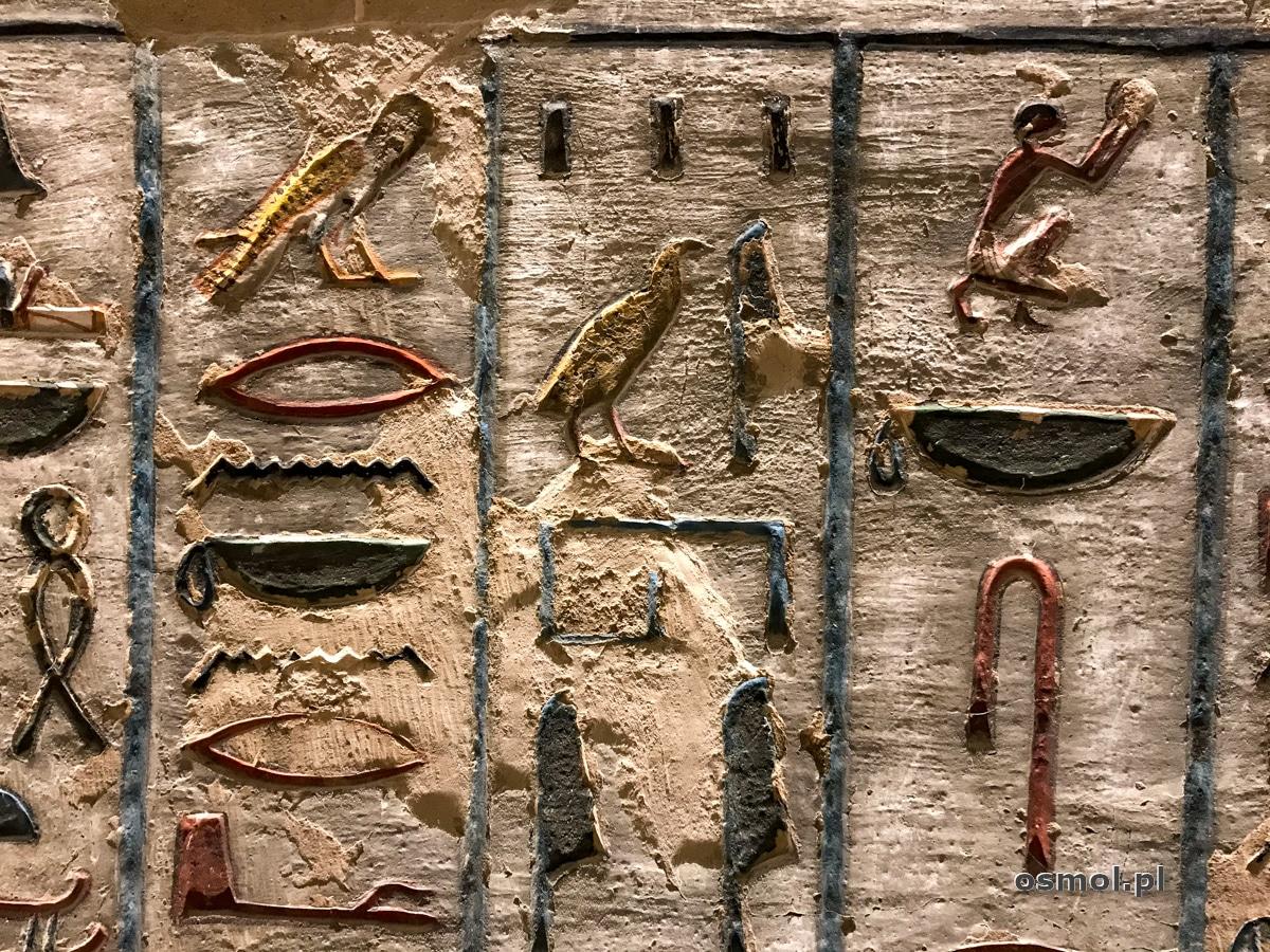 Hieroglify w grobowcu Ramzesa III w Dolinie Króló