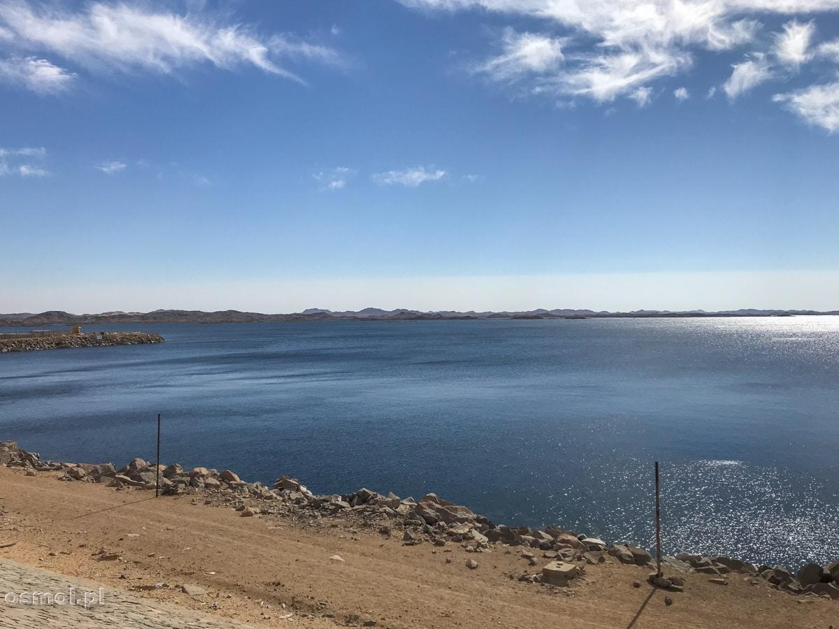 Widok na Jezioro Nasera z Wysokiej Tamy Asuańskiej.
